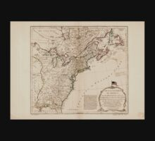 American Revolutionary War Era Maps 1750-1786 949 The United States of America with the British possessions of Canada Nova Scotia New Brunswick and Baby Tee