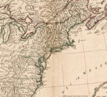 American Revolutionary War Era Maps 1750-1786 949 The United States of America with the British possessions of Canada Nova Scotia New Brunswick and Sticker