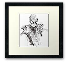 Spider-Man art Framed Print