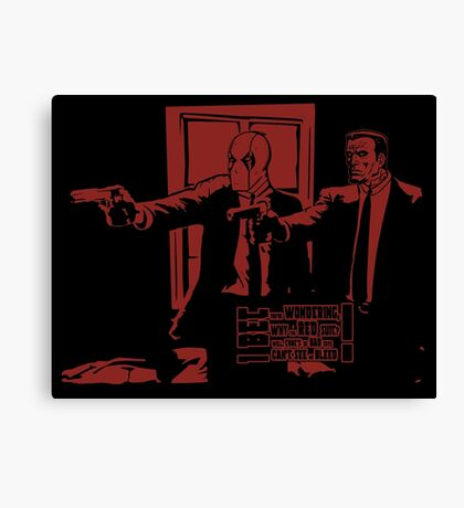 Dead Fiction - Red #3 Canvas Print