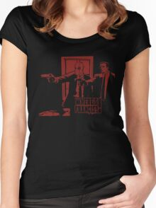 Dead Fiction - Red #4 Women's Fitted Scoop T-Shirt