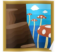 Tall, Tall Mountain, A Super Mario 64 Painting Poster