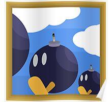 Bob-Bomb Battlefield, A Super Mario 64 Painting Poster