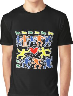 Keith Haring Love Dance Graphic T-Shirt