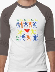 Keith Haring Love Dance Men's Baseball ¾ T-Shirt