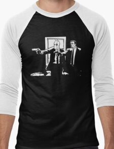 Dead Fiction - White #1 Men's Baseball ¾ T-Shirt