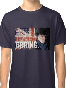 Sherlock Union Jack Quote Classic T-Shirt