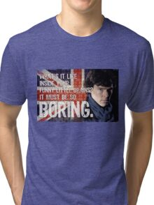 Sherlock Union Jack Quote Tri-blend T-Shirt