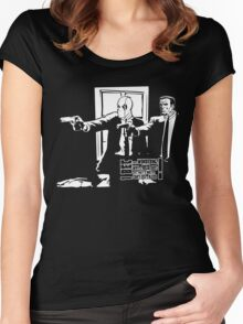 Dead Fiction - White #3 Women's Fitted Scoop T-Shirt