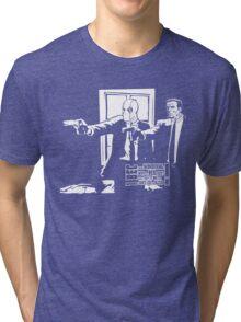 Dead Fiction - White #3 Tri-blend T-Shirt