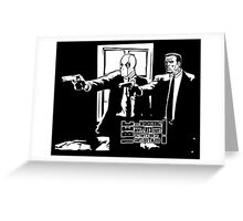 Dead Fiction - White #3 Greeting Card