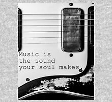 Soulful Black and White Guitar T-Shirt