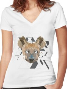 GeoHyena Women's Fitted V-Neck T-Shirt