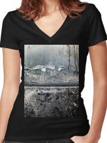 Foggy morning T-shirt femme moulant col V