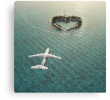 lOVE fLIGHT Canvas Print