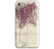 117 A topographical map of the lands of the Cabin Creek Coal Co of W Virginia embracing 14 307 acres in Kanawha and Boone counties West Virginia iPhone Case/Skin