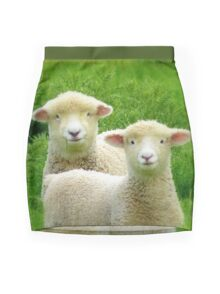 The Red Bubble Definition of Cute! - Lambs - NZ Mini Skirt
