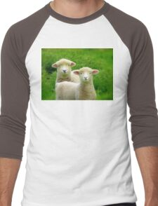 The Red Bubble Definition of Cute! - Lambs - NZ Men's Baseball ¾ T-Shirt