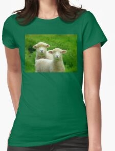 The Red Bubble Definition of Cute! - Lambs - NZ Womens Fitted T-Shirt