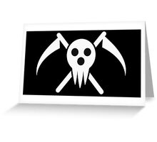 soul eater- lord death logo Greeting Card