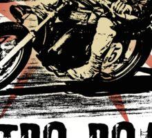 retro road Sticker