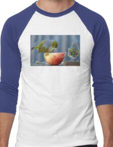 Holding the Apple Up! - Wax Eye NZ - Southland Men's Baseball ¾ T-Shirt