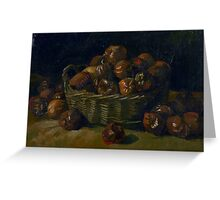 1885-Vincent van Gogh-Basket of apples Greeting Card