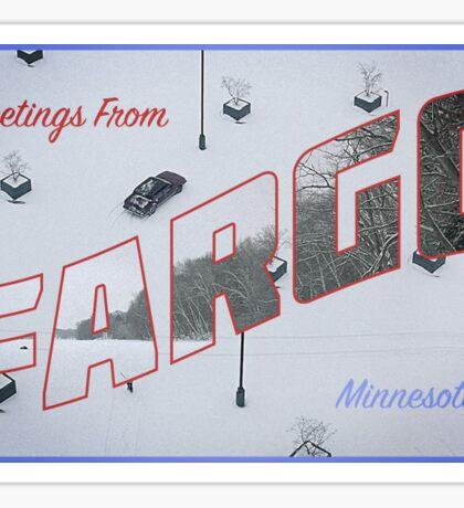 Fargo Postcard Sticker