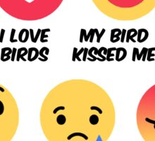 Facebook reaction bird lovers Sticker