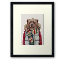 Winter Wolverine Framed Print