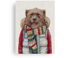 Winter Wolverine Canvas Print
