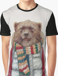 Winter Wolverine Graphic T-Shirt