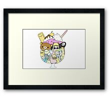 Kawaii Cartoon Charecters Framed Print