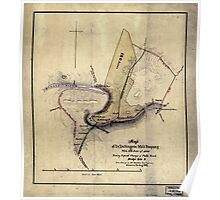 168 Map of Dr Dellingers mill property with 153 acres of land showing proposed changes of public roads bridge site c Poster