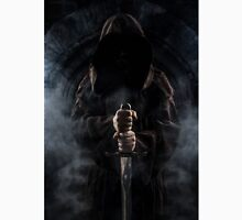 Hooded man with big sword Classic T-Shirt