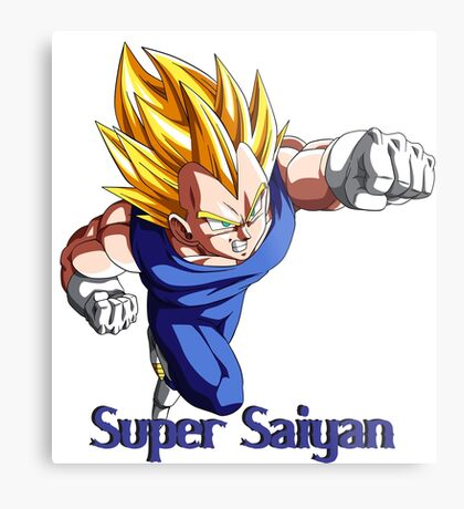 Super Saiyan VEGETA Metal Print