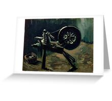 1885-Vincent van Gogh-Bobbin winder-34x44,3 Greeting Card
