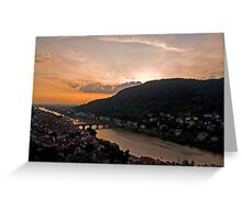 Heidelberg at dusk Greeting Card