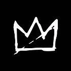 White Basquiat crown by sebinlondon