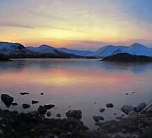 Icy Sunset in the Scottish Highlands by David Alexander Elder