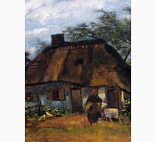 1885-Vincent van Gogh-Cottage and Woman with Goat, Farmhouse in Nuenen (La Chaumiére)-60x85 Unisex T-Shirt