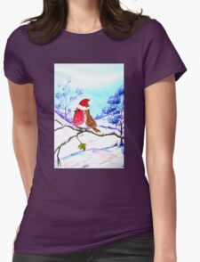Christmas Bird Womens Fitted T-Shirt