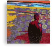 Man in the Road Canvas Print