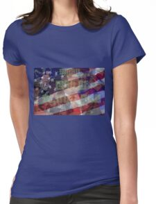 Donald Trump Patriotic Shirt Womens Fitted T-Shirt