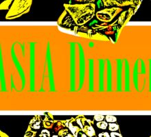 Asia Dinner  Sticker