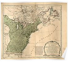 American Revolutionary War Era Maps 1750-1786 948 The United States of America with the British possessions of Canada Nova Scotia & of Newfoundland divided Poster