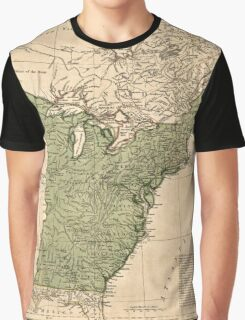 American Revolutionary War Era Maps 1750-1786 948 The United States of America with the British possessions of Canada Nova Scotia & of Newfoundland divided Graphic T-Shirt