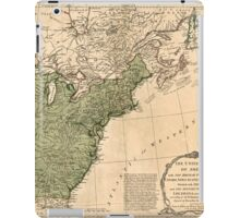 American Revolutionary War Era Maps 1750-1786 948 The United States of America with the British possessions of Canada Nova Scotia & of Newfoundland divided iPad Case/Skin