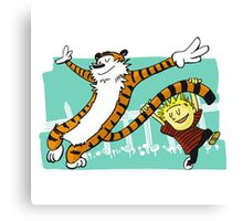 Calvin and Hobbes Dancing Canvas Print