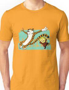 Calvin and Hobbes Dancing Unisex T-Shirt